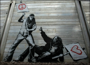 Paz x Amor - Banksy